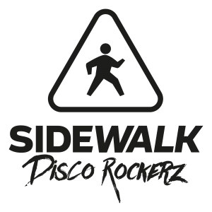 Sidewalk Discorockerz Coverband Logo Neu